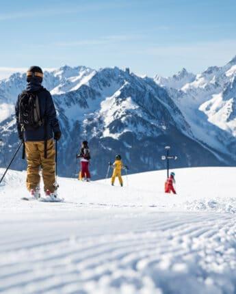 Ski sur pistes avec panoramas Saint François Longchamp