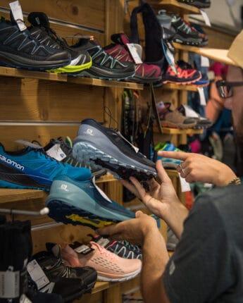 Shooping en magasin de sport