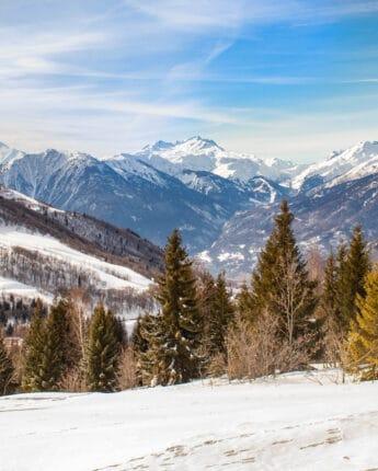 Vue panorama depuis Saint François Longchamp en hiver
