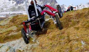 Franchissement en Swincar dans la montagne